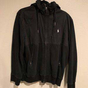 Polo by Ralph Lauren Black Zip-Up Midweight Jacket